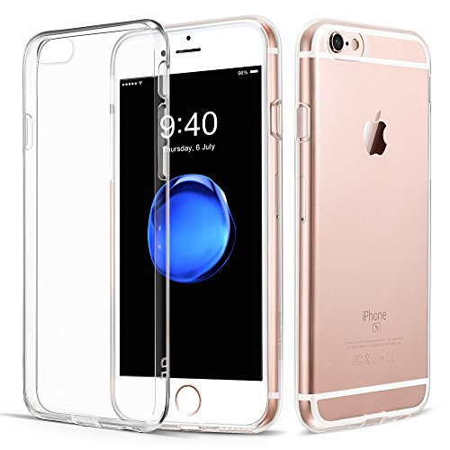 iPhone 6S 6 Hülle, Vkaiy iPhone 6 6S Schutzhülle, Transparent Ultra Dünn Handyhülle - Soft Silikon Crystal Durchsichtig TPU Bumper Backcover Case für iPhone 6/6S (4,7')