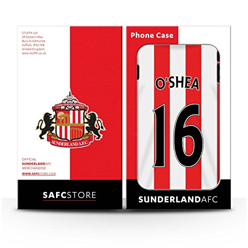 Officiel Sunderland AFC Coque / Brillant Robuste Antichoc Etui pour Apple iPhone 6+/Plus 5.5 / Lens Design / SAFC Maillot Domicile 15/16 Collection O'Shea