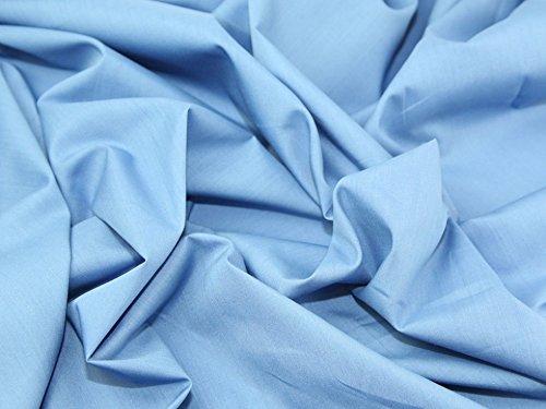 Polycotton-Stoff Kleid Uni Stahl Blau-Meterware + Gratis Minerva Crafts Craft Guide (Stahl Blau Kleid)