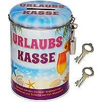 alles-meine.de GmbH Spardose - Urlaubs Kasse - mit 2 Schlüssel und Schloss - Stabile Sparbüchs.. preisvergleich bei kinderzimmerdekopreise.eu
