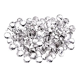 SODIAL(R)50x 22mm diamante Acrylic crystal upholstery headboard buttons nail