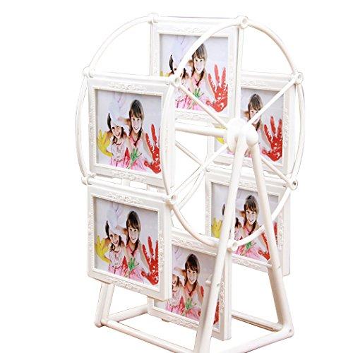 Justdolife Tabletop Bilderrahmen Rotierende Riesenrad Geformte Bilderrahmen Foto Display für Geschenk (Tabletop-bilderrahmen)