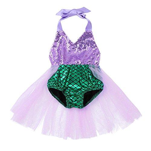 Agoky Baby Badeanzug Mädchen Tankini Bikini Einteiler Schwimmanzug Säugling Bademode Kinder Meerjungfrau Kostüm Cosplay Badebekleidung 0-24 Monate Grün 86-92/18-24 Monate