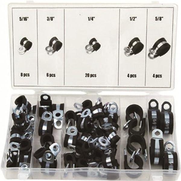 DIN 3016 W1 Leitungsschelle Rohrschelle 6-45 mm Schlauchschelle mit Gummi