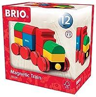 Brio 30124 - Trenino in Blocchi Magnetici - Supporta e stimola la motricità - Esercita la coordinazione mano-occhio - Sviluppa creatività, immaginazione e ragionamento logico - Materiali di alta qualità - Prodotto testato e sicuro per il bambino