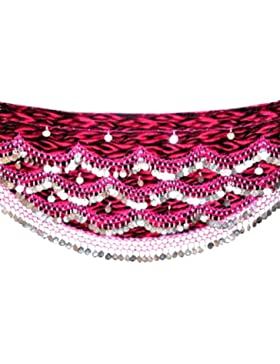 Belly Dance Hip Belt Scarves Traje de Baile Coin Hip Pañuelos Cinturones FITS S to M UK 8 - 12/16