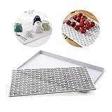 Hebudy, Piatto doppio strato Stendino Essiccazione per piatti in silicone per la ciotola dei piatti Verdura e Frutta utensile da cucina