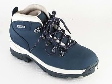 LADIES NAVY WATERPROOF BOOTS,HIKING,WALKING,LEATHER BLUE UK5 Blue 5 UK