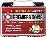Stay Prepared 250 Pièces Trousse de Premiers Soins Ultra Complète Premium First Aid...