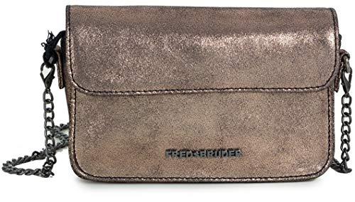 Fredsbruder Taschen Umhängetasche rose gold Onyx kleine Damen Tasche mit Kette Leder Mini Handtasche klein Clutch Glitzer Brüder Rose