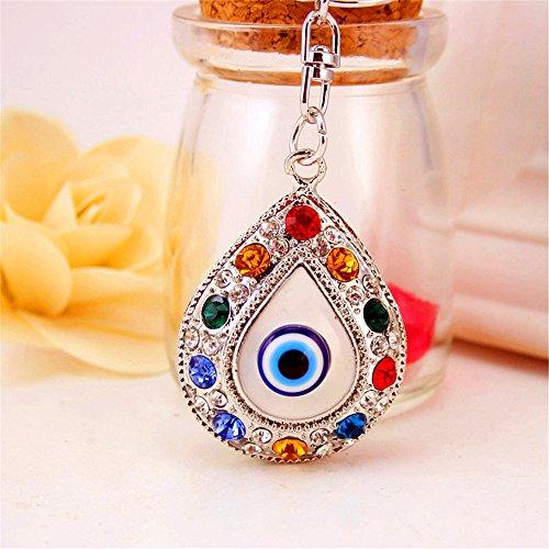 jewelbeauty Colorful Evil Eye Schlüsselanhänger SPARKLING Schlüsselanhänger Crystal Strass Geldbörse Anhänger Handtasche Charm -