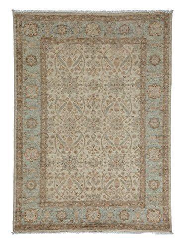 Solo Rugs Oushak Zada Teppich, handgeknüpft, 1,2 x 1,5 m, champagnerfarben (Persisch X 12 15 Teppich)