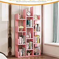 Eeayyygch Estantería Moderna Libros, estanterías organizadoras de Almacenamiento para CD, Registros, Libros,