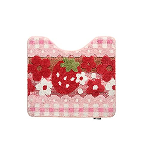 Strawberry Badematte/Fußmatten/Foot Pad/Anti-rutsch-teppiche-D 50x60cm(20x24inch) (Masse 60 Strawberry)