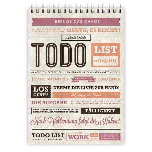 etmamu 381 To-Do-Liste A5, 70 Blatt, 3-spaltig, zur Organisation und Planen von Aufgaben
