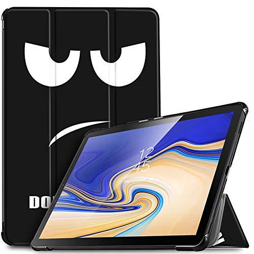 "IVSO Custodia Cover per Samsung Galaxy Tab S4 10.5 SM-T830N/T835N, Slim Smart Protettiva Custodia Cover con Auto Wake/Sleep Function per Samsung Galaxy Tab S4 SM-T830N/T835N 10.5"" 2018, Soot Eye"