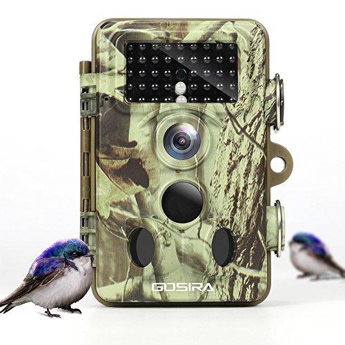 """Gosira 16MP 1080P Wildkamera mit Bewegungsmelder No Glow Tierbeobachtung 42 IR LEDs Reichweite 20m Nachtsicht mit 2.4\"""" LCD Display Bewegungssensor 120°Weitwinkel Jagdkamera Staub-wasserdicht"""