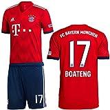 adidas FCB FC Bayern München Set Home Heimset 2018 2019 Herren Boateng 17 Gr L