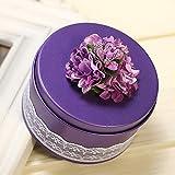 Rechteckige Form Hochzeit Geschenk Box Metall Weißblech Leere Dosen Pralinenschachtel Home Küche Lagerung ( Farbe : Purple )