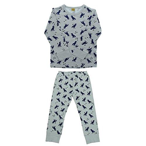 CeLaVi Baby Jungen Schlafanzug, T-Shirt mit langen Ärmeln und Leggins, Größe: 80 cm, Alter: 12 Monate, Dinosaurier Muster, Perlen Blau, 4527 - Perlen Lange Ärmel T-shirt
