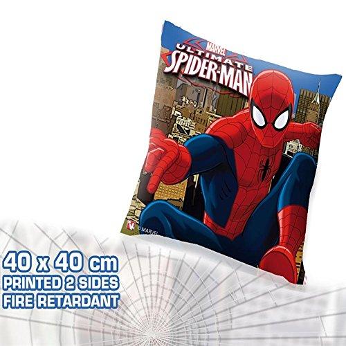 Cuscino Arredo Cameretta / letto / Spiderman Ultimate Marvel, Spider man pillow, 40x40cm