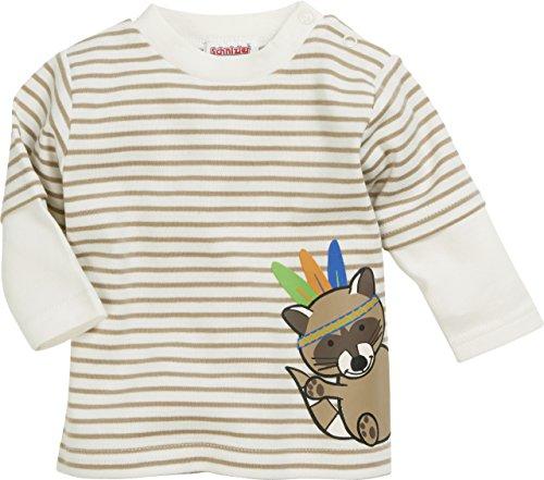 Schnizler Unisex Baby Sweatshirt Langarmshirt Indianer, Oeko-Tex Standard 100 Beige (Natur 2), 74