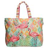 PE Florence Shopper Strandtas Tropical Flamingo