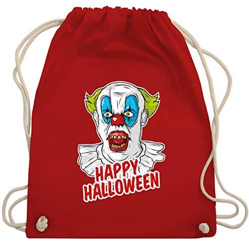 Halloween - Happy Halloween - Clown - Unisize - Rot - WM110 - Turnbeutel & Gym Bag (Kostüm Clown Unheimlich)