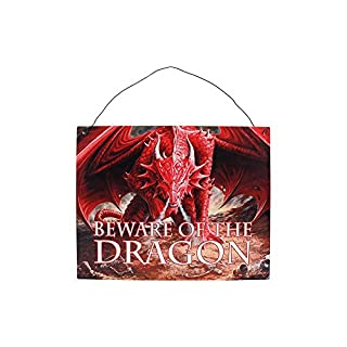 Beware Of The Dragon Metal Wall Sign By Anne Stoke Dragon's Lair
