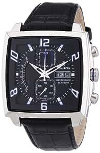 Festina - F6826/2 - Montre Homme - Quartz - Chronographe - Chronomètre/ Aiguilles lumineuses - Bracelet Cuir Noir