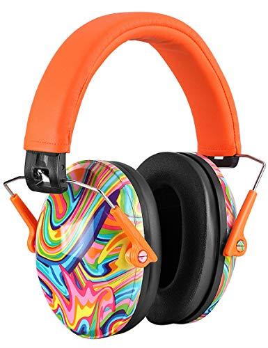 PROHEAR 032 Bunt Gehörschutz Kinder mit SNR 29dB Hörschutz, Faltbar Komfortabel Lärmschutz Kopfhörer Kinder Jugendliche für Konzert Feste Schule von 1 bis 18 Jahre (orange)