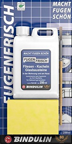 Bindulin Fugenfrisch - Colore per fughe piastrelle, 250 ml, colore: Bianco