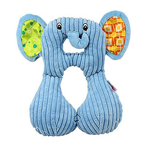 Kobwa 1–4Jahre alte Baby Animal Modeling U Typ Nackenstützkissen Travel Baby/Kid Auto Sicherheit Sitz Kissen elefant