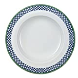 Villeroy & Boch Switch 3 Castell Suppenteller, 23 cm, Porzellan, Weiß/Blau/Grün