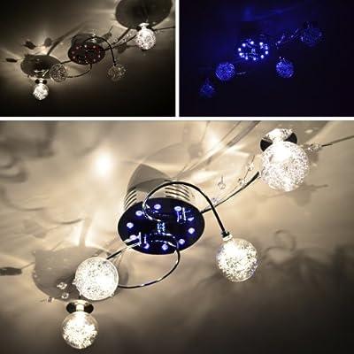 """Deckenleuchte mit Fernbedienung Deckenlampe """"Luna"""" 4FL LED Chrom NEU Lampe TOP von Maxkomfort - Lampenhans.de"""