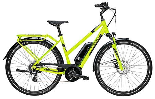Damen E-Bike 28 Zoll Lime - Pegasus Solero E8 Pedelec - Bosch Active Line Plus Mittelmotor, Akku 400Wh, Shimano Kettenschaltung