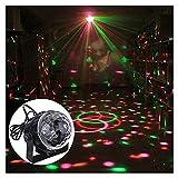 Caxmtu Ball Effect Bühnenbeleuchtung Mini RGB LED Kristall Magic für Hochzeit Party Disco Club DJ Licht 110–240 V Schwarz