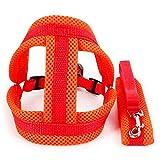 IW.HLMF Pet Dog Vest Harness Weiches Netzgewebe Kein Zuggurt einstellbar für Cat Rabbit Puppy,Red,M
