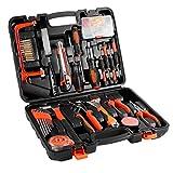100 Werkzeug für Haushalt, LESHP Allgemeine Haushalt Werkzeug Kits Set für Haus Wartung mit Kunststoff Toolbox Lagerung Fall