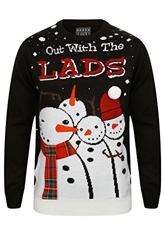 Seasons Greetings Herren Pullover Out With The Lads - Black