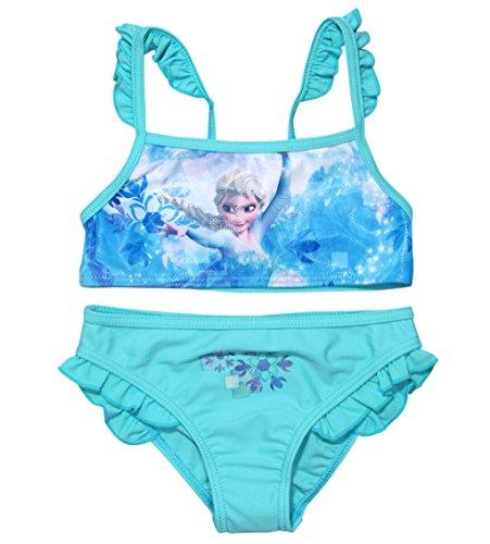 Frozen Bikini Bademode Die Eiskönigin 2018 Kollektion 98 104 110 116 122 128 Neu Völlig Unverfroren Elsa Shiny Effekt Blau (104 - 110; Prime) (Neue Mädchen Bikini)