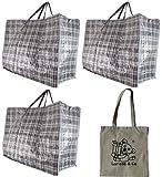 3(trois) x Taille moyenne à linge/sac de rangement/Déménagement Zip Top Design Carreaux