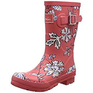 Joules Damen Y_MOLLYWELLY Gummistiefel, Rot (Red Indienne Floral), 37 EU