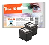 Peach - Set de cartuchos de tinta (compatible con HP C9351AE, nº 21XL, 2 unidades), color negro