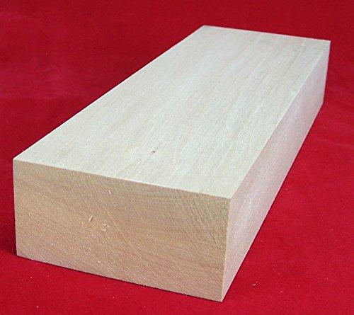 1 Stück Lindenholz unbehandelt zum Schnitzen oder drechseln 5x10x30 cm