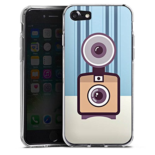 Apple iPhone X Silikon Hülle Case Schutzhülle Vintage Kamera Fotografie Symbol Silikon Case transparent