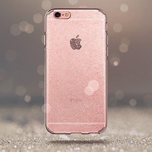 iPhone 6S Case, Spigen® [Liquid Crystal] iPhone 6 Case Cover with Slim Protection and Premium Clarity for iPhone 6s / iPhone 6 - Glitter Rose Quartz