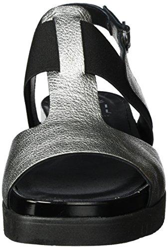 Lili Mill Yoga, Scarpe Col Tacco con Cinturino a T Donna Silber (Acciaio)