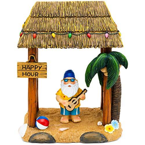 Hoovy Gartenzwerg Statue Haus Outdoor Garten Rasen lustige Figur Tropische tolle Geschenke Tiki Beach Party