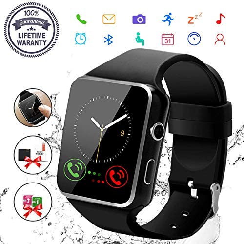 Smart Watch Donna, Sport Watch Uomo Orologio Smartwatch Android con SIM Card Slot Fotocamera Orologio Intelligente Phone Watch Sport Tracker di Fitness for Samsung Huawei Bambini Ragazzi